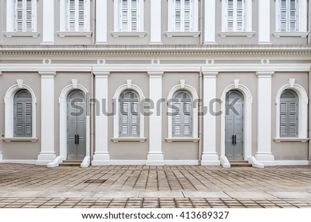 Facade designed in Neo-Palladian and Renaissance style - stock photo