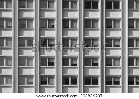 Facade exterior of modern building - stock photo