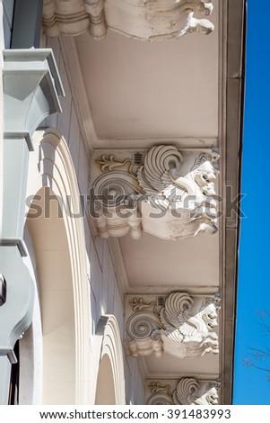 facade of a building in Athens, Greece - stock photo