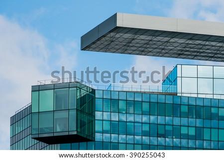 facade of an office building - stock photo