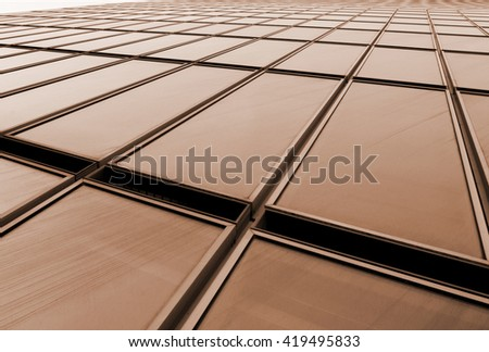 Facade of an office building - stock photo