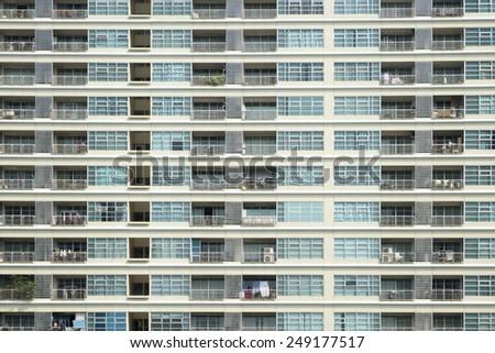 Facade of condominium - stock photo