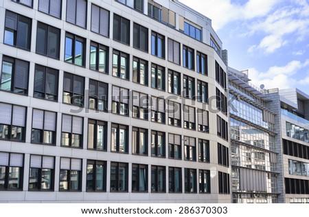 Facade of modern officebuildings - stock photo