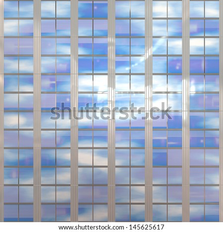 Facade - shapes from a modern building - stock photo