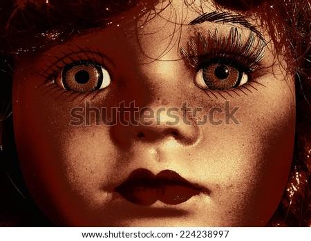 Face doll - stock photo
