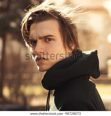 face handsome man - stock photo