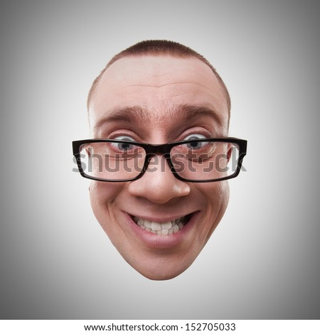 Face mad manager smiling High resolution  - stock photo
