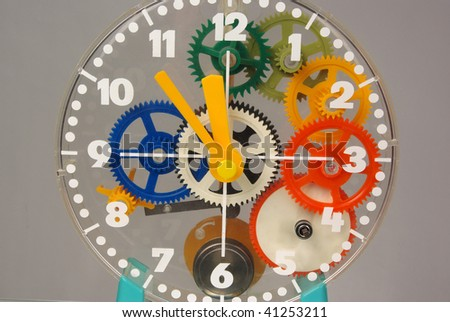 Face of clock - stock photo