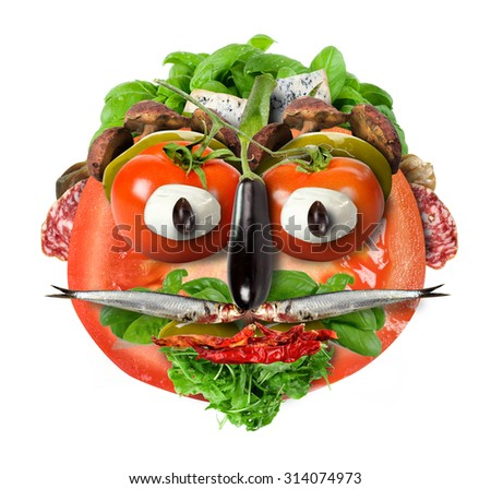face tomato - stock photo