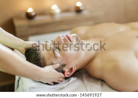 Facial masage - stock photo