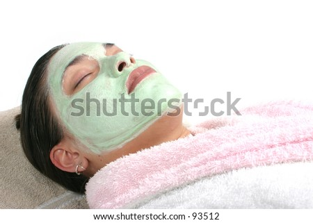 facial or spa - stock photo