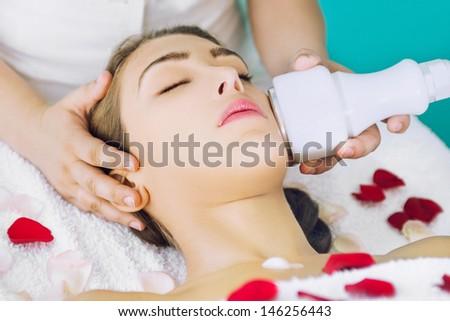 Facial treatment - stock photo