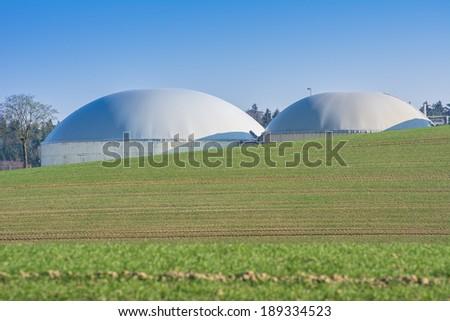 Facility for bio energy production - stock photo