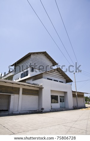 factory building - stock photo
