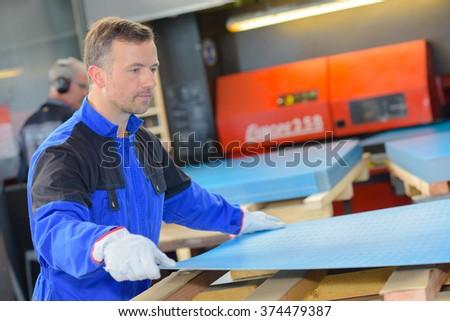 factory employee - stock photo