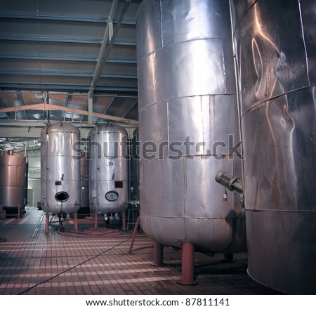 Factory for alcohol - stock photo