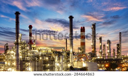 Factory, Industry, Oil Refinery - stock photo