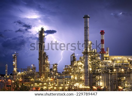 Factory - oil and gas industry - stock photo