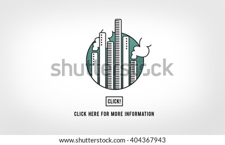 Factory Pollution Atmosphere Industry Click Concept - stock photo