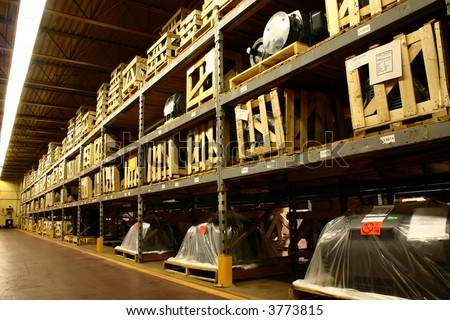 Factory Warehouse - stock photo