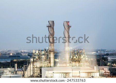 factory with blue sky - stock photo