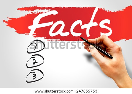 Facts blank list, business concept - stock photo