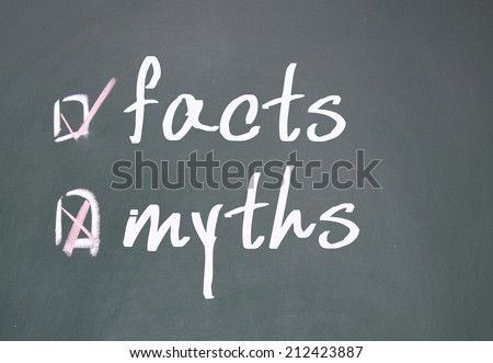 facts or myths determine - stock photo