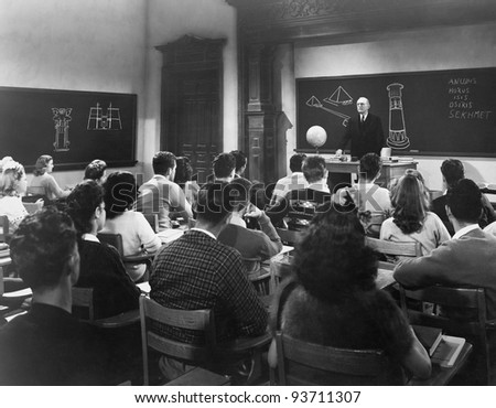 FACULTY LECTURE - stock photo