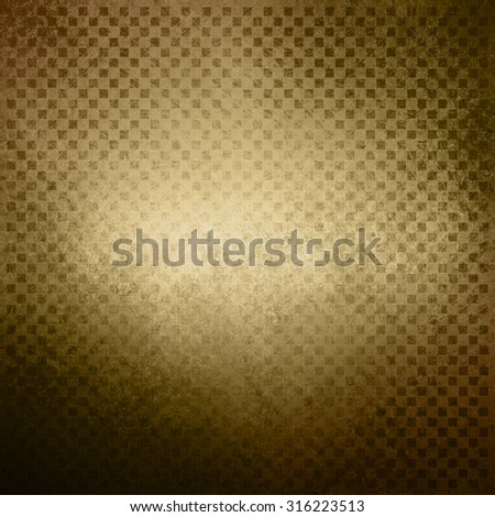 faded brown gold background, vintage color and sponged distressed texture in soft blended brush strokes with dark border and light center - stock photo