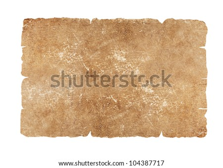 Faded old paper sheet - stock photo