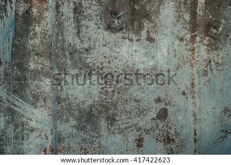 Faded peeled worn rusty metal texture  - stock photo