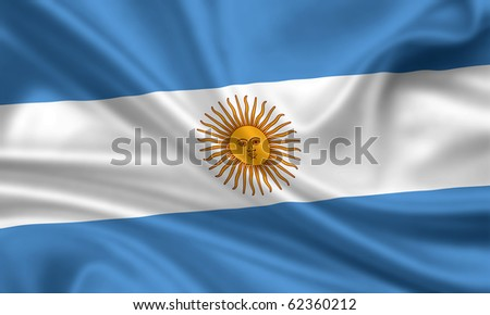 Fahne Flagge Argentinien - stock photo