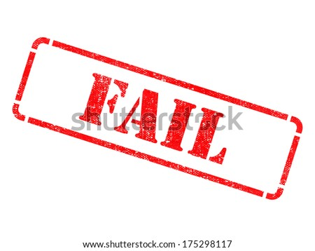 Fail - Inscription on Red Rubber Stamp Isolated on White. - stock photo