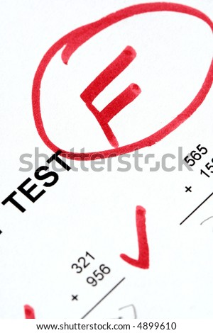 Failed Test - stock photo
