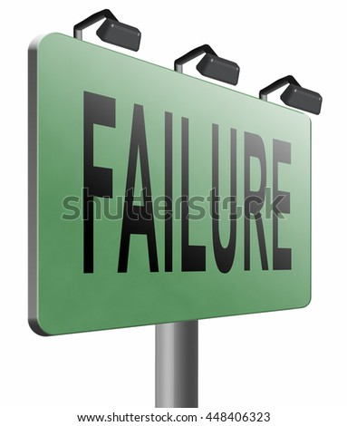 failure fail exam or attempt can be bad especially when failing an important job task or in your study failing an exam. You feel frustrated and being a looser 3D illustration isolated on white  - stock photo