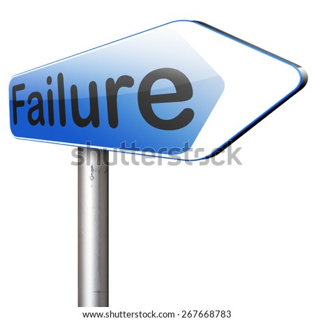 failure fail exam or attempt can be bad especially when failing an important task or in your study failing an exam. You feel frustrated being a looser and disaster  - stock photo