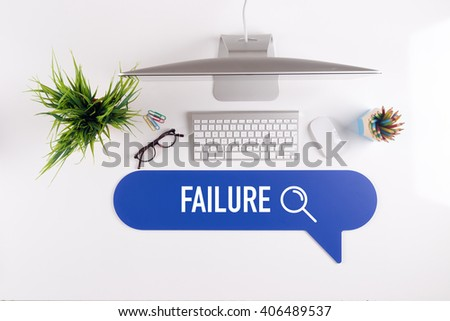 FAILURE Search Find Web Online Technology Internet Website Concept - stock photo