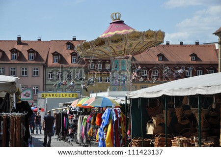 Fair (Spargelfest) in Bamberg, Germany - stock photo