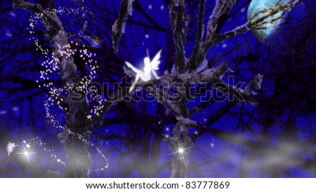 fairies on a tree - stock photo