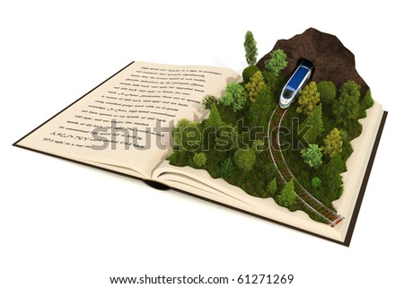 Fairy-tale book - stock photo