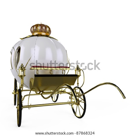 fairy tale carriage front view - stock photo