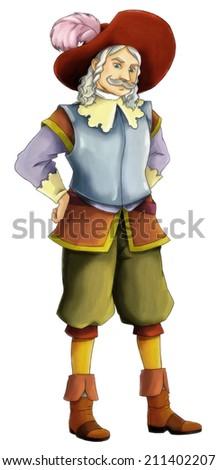 Fairytale cartoon character - illustration for the children - stock photo