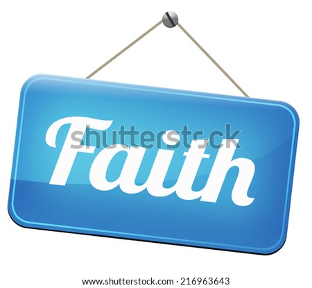 Faith and trust in God and Jesus - stock photo