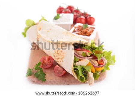 fajita on board - stock photo