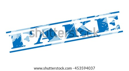 fake blue stamp on white background - stock photo