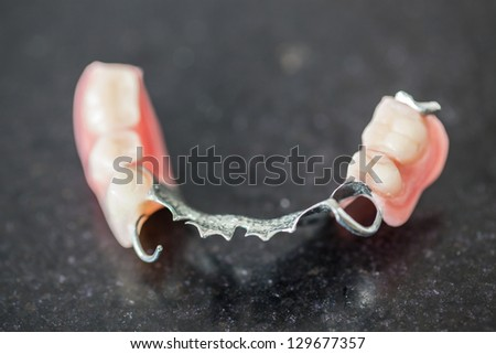 fake dental model in hospital - stock photo
