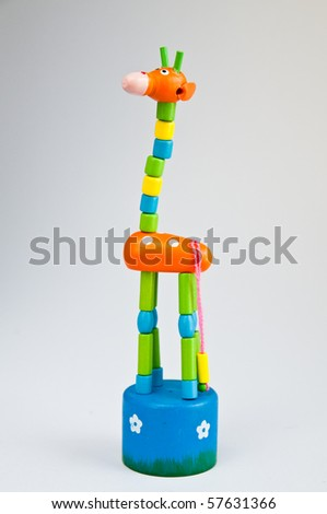 fake Giraffe ,toy - stock photo
