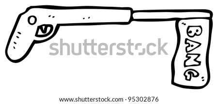 fake gun cartoon (raster version) - stock photo