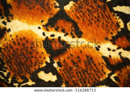 fake tiger skin that made from leather - stock photo
