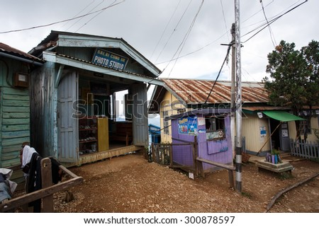 FALAM, MYANMAR - JUNE 18 2015: Photo Studio in the recently opened to foreigners area of Chin State - western Myanmar (Burma) - stock photo